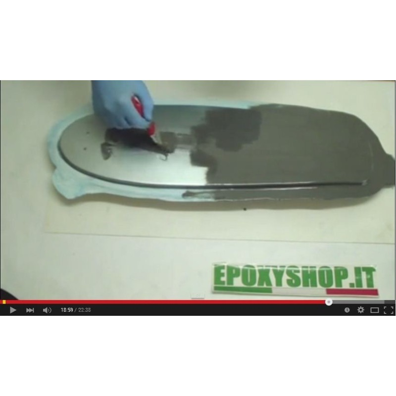 parte 1 Come fare uno stampo Gelcoat resina da stampi distaccanti